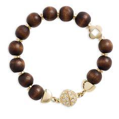 Wood Bead Bracelet #miche #michefashion #jewelry #bracelt #gold #summerfashion #fashion #style #accessories