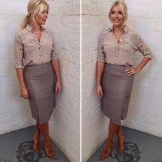 Today we will talk about the best summer work outfit ideas for 2019 year. If you want to find some great work outfit pictures and ideas. Business Casual Outfits, Professional Outfits, Office Outfits, Business Attire, Work Outfits, Stylish Outfits, Holly Willoughby Outfits, Holly Willoughby Style, Office Fashion