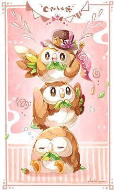 Pokemon sun and moon || Rowlet                                                                                                                                                                                 もっと見る