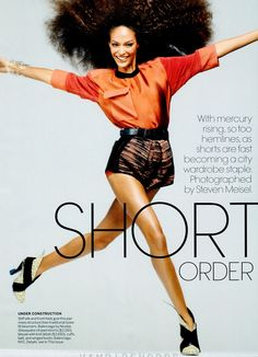 Short Order | Joan Smalls | Steven Meisel #photography | Vogue US May 2012 #curlyhair #naturalhair