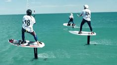 extreme sports photography - Kitefoil: The extreme water sport you've probably never heard of | Boat International www.boatinternational.com Riders during the Kitefoil Silver Cup 2015 Extreme Water Sports, Water Crafts, Basketball Court, Health Fitness, Boat, Exercise, Photography, Gadgets, Models