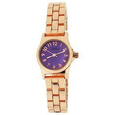 Reflex Ladies Analogue Purple Dial & Rose Tone Metal Bracelet Strap Watch for sale online Modern Watches, Cool Watches, Metal Bracelets, Women Brands, Fashion Watches, Gold Watch, Bracelet Watch, Gifts For Her, Quartz