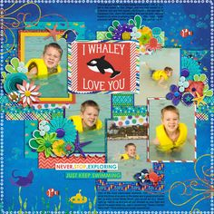 Template: Cindy Schneider - Set 205  Kit: Traci Reed and Amanda Yi - Deep Blue Sea