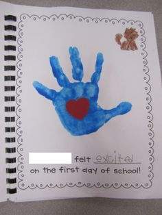(27 Fresh Kissing Hand Freebies and Teaching Resources) First Day of School Feelings Class Book - KindergartenWorks.com
