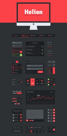 Black-flat-UI-psd-kit-615