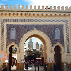 Entrance to the Medina, Fez, Morocco. Photo courtesy of kerrygalvin65 on Instagram More Photos Courtesi #Travel #Vacation #Photography #BestVacations