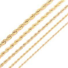 Alta Qualità Placcatura In Oro Corda Catena Collana In Acciaio Inox Per Le Donne Gli Uomini D'oro della Moda Corda Catena Dei Monili del Regalo