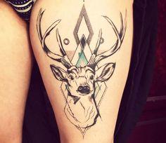Incroyable Tatouage bond de Trudy Lines Tattoo Tattoos 3d, Animal Tattoos, Black Tattoos, Hand Tattoos, Sleeve Tattoos, Tatoos, Deer Tattoo Meaning, Triangle Tattoo Meaning, Tattoos With Meaning