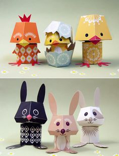 paper toy Some gorgeous printable animal characters- more varieties available if you the link. Ideal for table decorations at the end of Seasons for Growth Program Celebrations. 3d Paper Crafts, Paper Toys, Diy And Crafts, Crafts For Kids, Arts And Crafts, Printable Paper Crafts, Paper Paper, Foam Crafts, Art Jouet