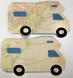 Die Cut Motorhome RV Cards DIY Scrapbooking 2pcs by Paperquick, $1.75