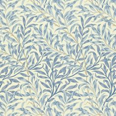 Willow Boughs by William Morris. The Original Morris & Co - Arts and crafts, fabrics and wallpaper designs by William Morris & Company William Morris Wallpaper, Morris Wallpapers, Blue Wallpapers, William Morris Tapet, Hd Backgrounds, Fabric Wallpaper, Wallpaper Roll, Bedroom Wallpaper, Trendy Wallpaper