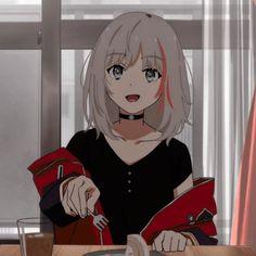 Anime Neko, Kawaii Anime Girl, Anime Art Girl, Dark Anime Girl, Anime Girls, Animes Yandere, Real Anime, Cute Profile Pictures, Anime Girl Drawings