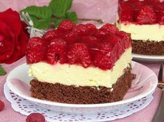 Malinowy Obłoczek Cake Recipes, Dessert Recipes, Vegan Junk Food, Sweets Cake, Vegan Kitchen, Polish Recipes, Food Cakes, Vegan Sweets, Yummy Cakes