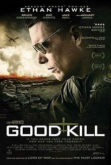 The film tells the story of a Las Vegas fighter pilot turned drone pilot (Ethan Hawke), who fights the Taliban via remote control for half of his day, then goes home to his wife (January Jones) and his kids in the suburbs for the other half. 2015 Movies, Hd Movies, Movies To Watch, Movies Online, Movie Tv, Action Movies, Netflix Online, Movie Titles, Romance Movies