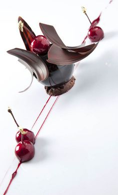 "cherries and chocolate... the word ""hangry"" though... lol"