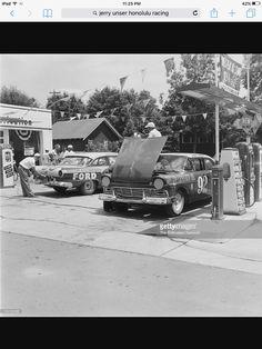 Cars preparing for the Pikes Peak Hill Climb race Hill Climb Racing, Pikes Peak, Nascar, Lightning, Colorado, America, Cars, History, Vintage