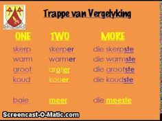 EPS Gr4 Revision Afrikaans: Trappe van Vergelyking - YouTube Education Humor, Kids Education, Afrikaans Language, Classroom Rules, Bible For Kids, Design Quotes, School Projects, Life Skills, Learning Activities