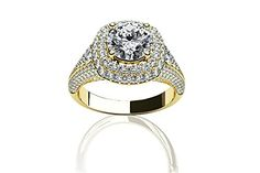 $2,499  -  1.47 CARATS ROUND * EGL CERTIFIED * DIAMOND DOUBLE HALO ENGAGEMENT RING ON 18K SOLID YELLOW GOLD F 26 D http://www.amazon.com/dp/B00OSQRX70/ref=cm_sw_r_pi_dp_W1Nyub1B2DXTD