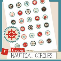 Nautical bottle cap images NAUTICAL CIRCLES 1 inch by Grepic  https://www.etsy.com/listing/154865990/nautical-bottle-cap-images-nautical?ref=shop_home_active_23