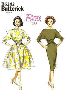 Robe robe imprimée rétro années 1960 - Butterick B6242