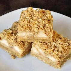 Apple Pie Crumble Bars Here's a great recipe to help use up all those fall apples and one that my kids absolutely love. They really do taste like delicious little bites of a great apple crumble pie. For dozens of other cookie ideas, check out this growing photo gallery on our Facebook Page with links …