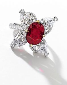 A 5.07-Carat Important Ruby and Diamond Ring