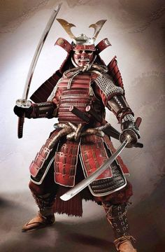 The Yoroi Hitatare was a common style of samurai dress. The hitatare originated as commoner garb in the Heian period as a long-sleeved jacket and hakama trouser skirt, which was then adopted by the Taira clan and others when samurai clans assumed aristocratic practices. The large sleeves make the outfit appear more impressive than the previous standard samurai outfit. Armor (yoroi) was later then added onto the hitatare to be suitable for warfare. —J. Thai