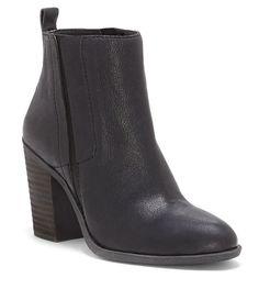 31050c81da17 Lucky Brand Sassa Inside Zipper Stacked Block Heel Booties All Brands