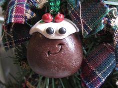 Christmas Pudding Ornament Traditional Christmas Food Ornament Charm Funny Food Ornament Bring Me Some Figgy Pudding Home for the Holidays Unique Christmas Ornaments, Christmas Decorations, Holiday Decor, Funny Food, Food Humor, Traditional Christmas Food, Figgy Pudding, Christmas Pudding, Christmas Delivery