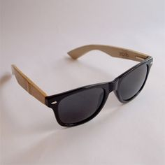 sunglasses with wooden arms