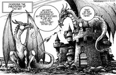 Pondering the Philosophy of D&D Art - Sheneman DnD Toon… Dungeons And Dragons Cartoon, Yoshi, Dragons Online, Dnd Funny, 9gag Funny, Vanellope Von Schweetz, Dragon Memes, Dragon Quotes, Gamer Humor
