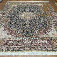 Persian design hand knotted silk carpet from Yilong Factory. Size: 6x9 ft. Material: silk, 230 lines, 367 kpsi. Wholesale price: $2430 alice@yilongcarpet.com WhatsApp: 0086 156 3892 7921 www.yilongcarpet.com www.yilongcarpet.myshopify.com #art #chineseroundsilkrugs #ghomsilkrug #100%silkrugsforsale #roundrug #roundcarpet #silkpersianrugsforsale #woolandsilkblendrug #turkishsilkrugforsale #silkafghanrugs #turkishrugsforsale #handmadepuresilkrugs #persiantreeoflifesilkrugs
