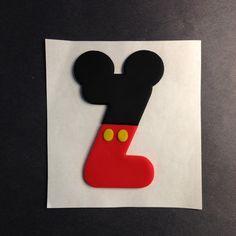 Fondant de Mickey letra Z & Set de cortador de galleta