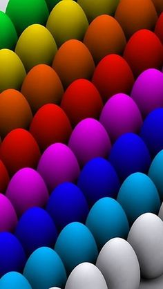 "Color Somewhere Over the Rainbow! ""Colorful eggs"" by Nasko . Happy Colors, True Colors, All The Colors, Vibrant Colors, Colorful, World Of Color, Color Of Life, Color Splash, Color Pop"