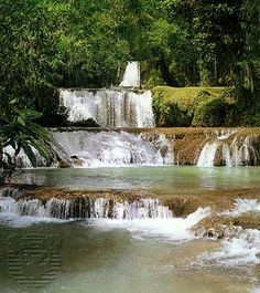 Dunns River Falls in Jamaica is spectacular. We went with the entire family and the experience was unbelievable despite my excruciating backache