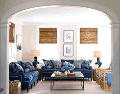 Forever in Blue Jeans | Indigo, Denim & Chambray Inspired Interiors