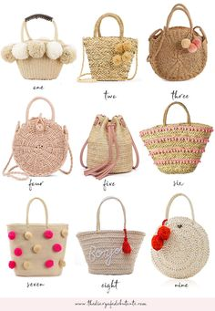 Summer's around the corner, and every girl needs a colorful straw handbag in her closet! In today's affordable summer style roundup, Stephanie Ziajka from the popular affordable fashion blog Diary of a Debutante shares 18 cute straw bags for summer under $50! Whether you love pom pom bags, tassel bags, or a mix of both, there's something for everyone. Click through to see them all. #handbags #summerstyle #summerfashion #strawbags #under50 Beach Accessories, Fashion Accessories, Jute, Straw Handbags, Straw Tote, Affordable Fashion, Couture, Cool Things To Buy, Hot Pink