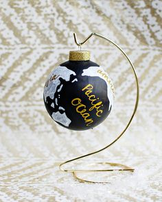 DIY wanderlust globe ornament
