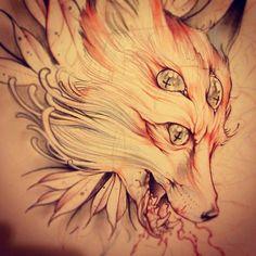 cat girl wolf animal tattoo artwork ink pug fox concept art owl ...