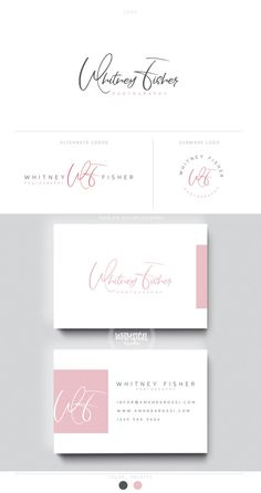 clean signature branding 1 logo initials businesscards  simple modern feminine branding- Brand Identity for Children and family photographer