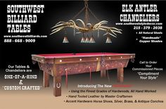 Elk Antler Chandelier (Above Pool Table)