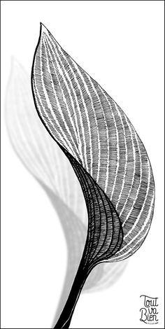 Hosta' leaf - illustration by ToutvaBien-design - Hosta' leaf – illustratio. - Hosta' leaf – illustration by ToutvaBien-design – Hosta' leaf – illustratio…, - Architecture Drawing Plan, Architecture Drawing Sketchbooks, Architecture Collage, Architecture Geometric, Concept Architecture, Drawing Sketches, Art Drawings, Leaf Illustration, Bild Tattoos