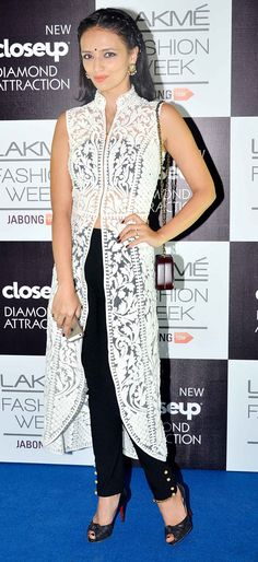Roshni Chopra on Day 5 at the Lakme Fashion Week Winter/Festive 2014. #Bollywood #Fashion #Style #Beauty #Page3