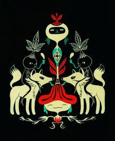 Mandragora and fox Art Print by Fio Zenjim   Society6