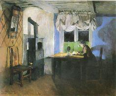 Ved Iampelys- Harriet Backer 1890