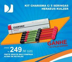 Promoção Heraeus Kulzer, compre um Kit Charisma com 5 seringas e GANHE um pacote de babador! #DentalMedSul #DistribuindoSorrisos #HeraeusKulzer #Charisma #Dental #Dentistas #ProdutosOdontológicos