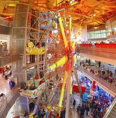 Times Square's 3-story ferris wheel inside Toys 'R Us, NYC