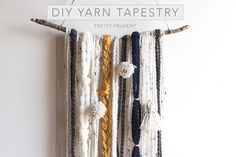 DIY Yarn Tapestry Tutorial. I love the boho vibe of this wall decor.