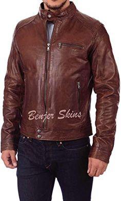 Ayesha Mens Leather Jackets Motorcycle Bomber Biker Genuine Lambskin 85
