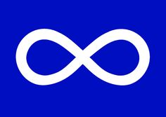 Metis Flag.  I am recognized (finally) being a full Metis.  Before Metis was classified as being French/Native.  Thanks to The Woodland Metis, they welcomed Black/Native/European and recognized we are all family.